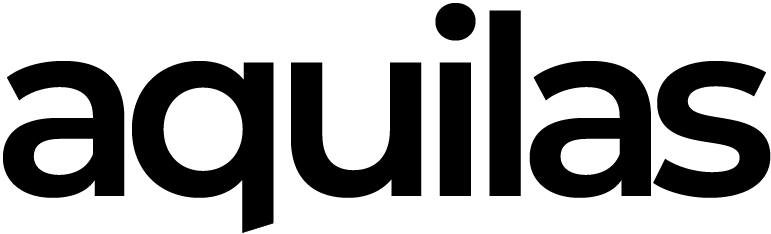 Aquilas logo, linking to their website