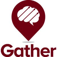 Gather logo linking to their website