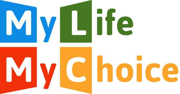 My Life My Choice logo linking to their website