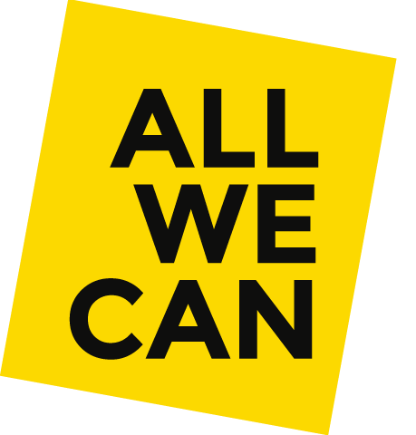 All We Can logo linking to their website