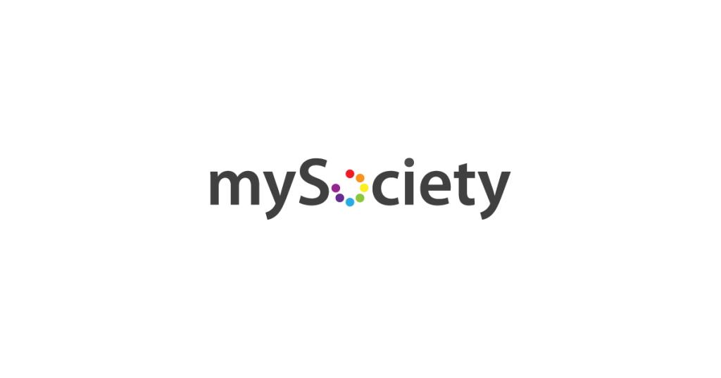 mySociety logo linking to their website