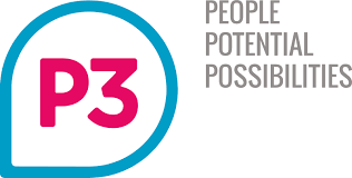 P3 Charity logo linking to their website