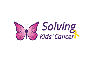 Solving Kids' Cancer logo linking to their website