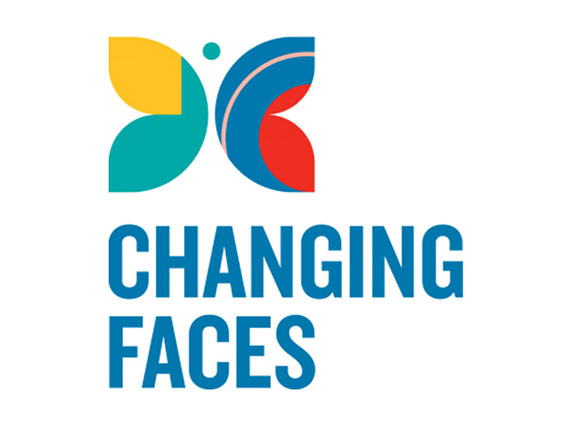 Changing Faces logo linking to their website
