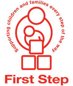 First Step logo linking to their website