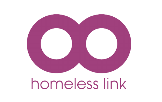 Homeless Link logo linking to their website