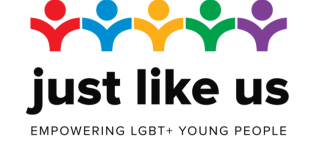 Just Like Us logo linking to their website