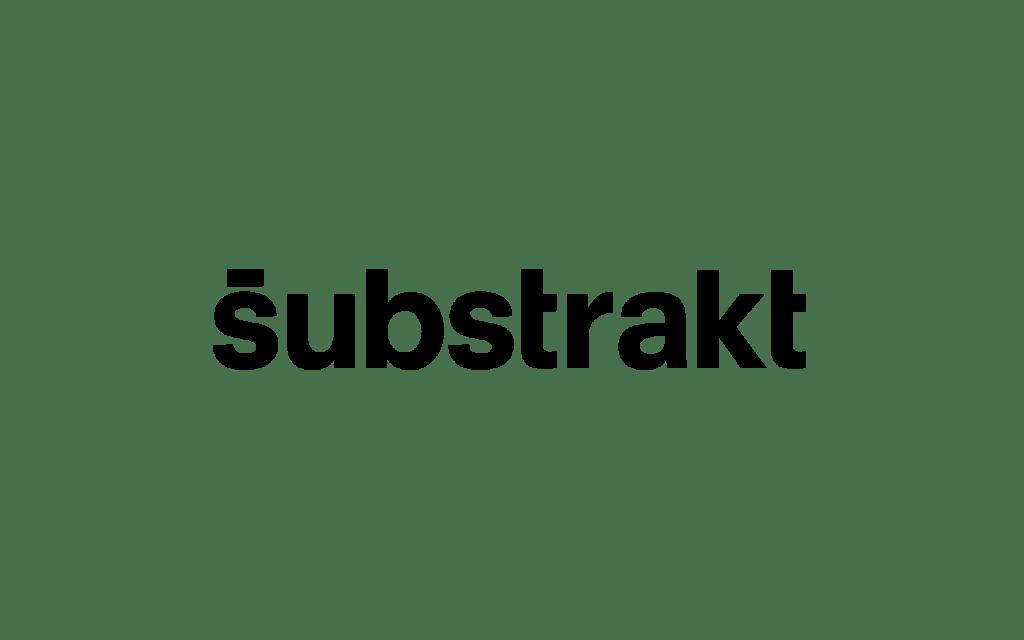 Substrakt logo, linking to their website