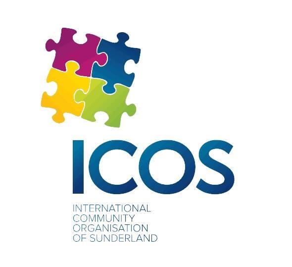 International Community Organisation of Sunderland logo linking to their website