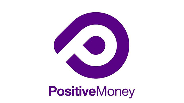 Positive Money logo linking to their website