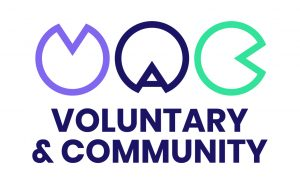 Voluntary and Community logo linking to their website