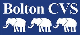 Bolton Voluntary and Community Services (CVS) logo linking to their website